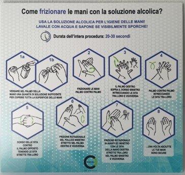 Cartello Igienizzare Mani con Gel