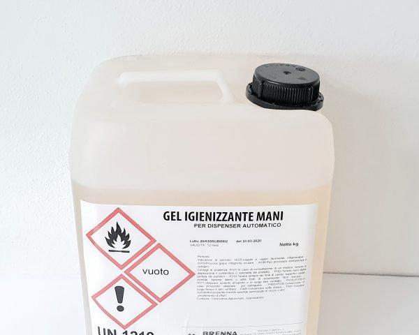 Tanica 10 Litri Gel Mani Disinfettante senza Risciacquo